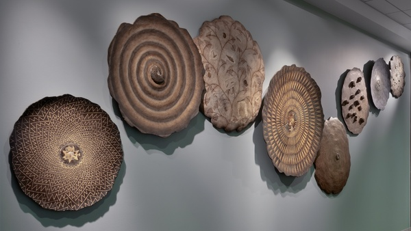 20 foot wall installation, Corporate commission (all fossil wall sculptures) : Installations and Commissions : Fossil and organic mixed media sculpture by Lee Brotherton
